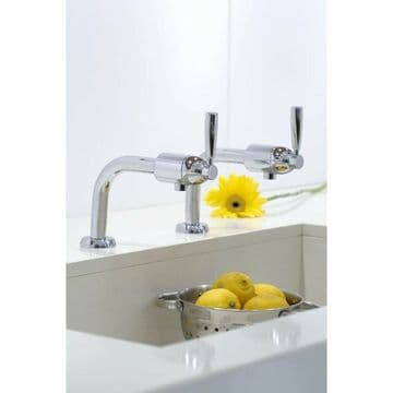 Perrin & Rowe Cirrus bibcock lever kitchen taps in chrome. 4832CP